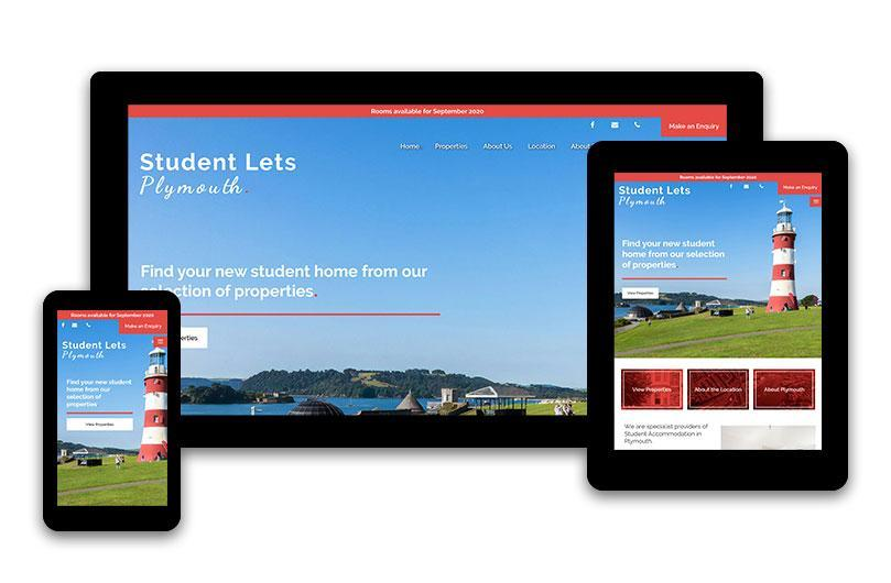 Student Lets Plymouth - Website Design